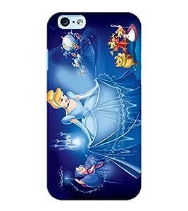 ColourCraft Cartoon Princess Design Back Case Cover for APPLE IPHONE 6