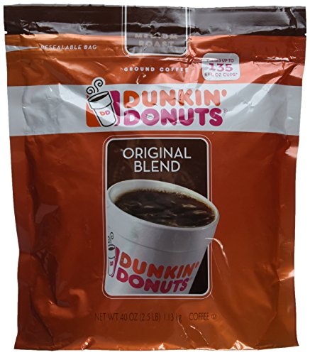 Dunkin' Donuts Original Medium Roast Blend Coffee, 2.5 Pound (Bulk Coffee compare prices)