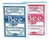 51ubDjQhs1L. SL160  BEE Standard Playing Cards No. 92 Club Special   2 Poker Size Decks in Rot und Blau