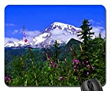 Mount Rainier Mouse Pad, Mousepad (Mountains Mouse Pad, Watercolor style)