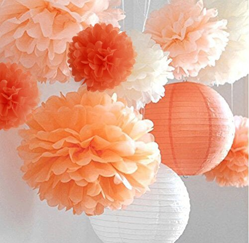"LifeGlow Craftsâ""¢ Pom Poms -12Pcs of 10"