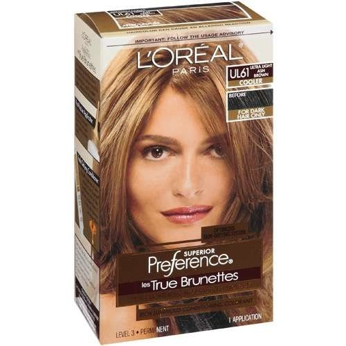 loreal preference ultra lightening hair color ultra light ash brown - Coloration L Oreal Caramel