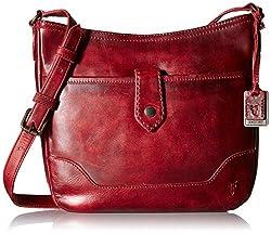 FRYE Melissa Button Cross Body Bag, Burgundy, One Size