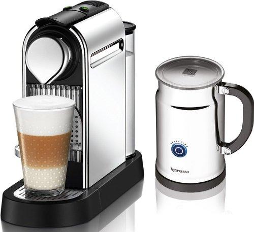 Nespresso Citiz C111 Espresso Maker with Aeroccino Plus Milk Frother Chrome eBay