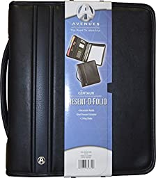 Avenues Professional Binder Padfolio with Zippered Closure, Retractable Handle, Writing Pad, Interior Tablet Sleeve & Calculator Black
