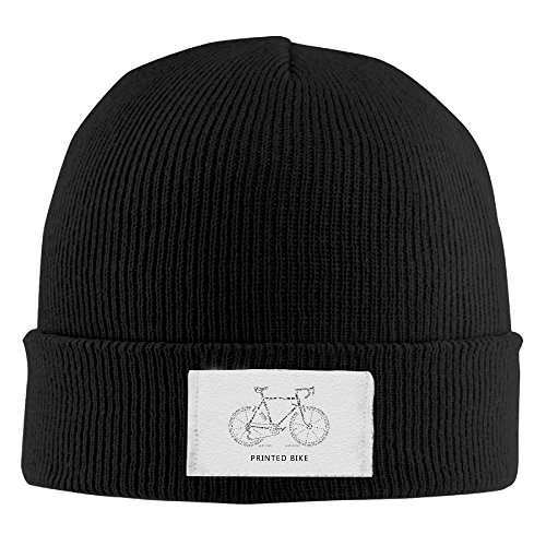 Printed Bike Knit Hat Slouchy Beanie Winter 2016 Watch Cap Touques Bowler Hat (Xxl Thule compare prices)