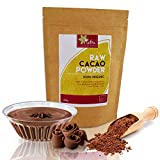 Raw Organic Cacao Powder | #1 Best Magnesium Rich Superfood | High Energy Vegan Protein | Premium Quality Chocolate Ingredient | Versatile and Ideal for Baking and Power Smoothies