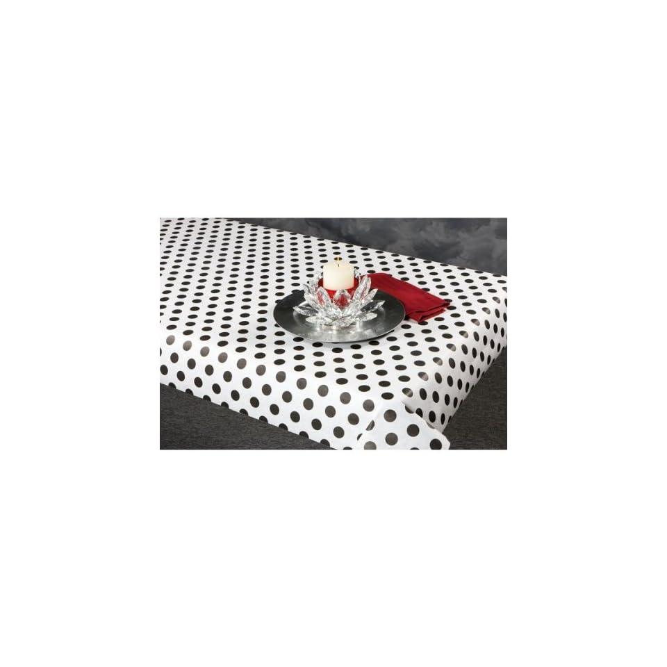 100 foot Black Polka Dot Paper Table Cover   702362