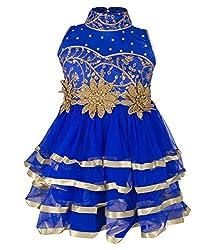 Addyvero Medium Blue Baby Girls Halter Dress