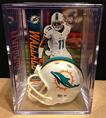 Miami Dolphins NFL Helmet Shadowbox w/ Mike Wallace card