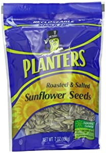 Planters Roasted and Salted Sunflowers Seeds, 7-Ounce Bags (Pack of 12)
