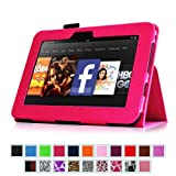 "Fintie Kindle Fire HD 7"" (2012 Old Model) Slim Fit Leather Case with Auto Sleep/Wake (will only fit Amazon Kindle Fire HD 7"", Previous Generation) - Magenta"