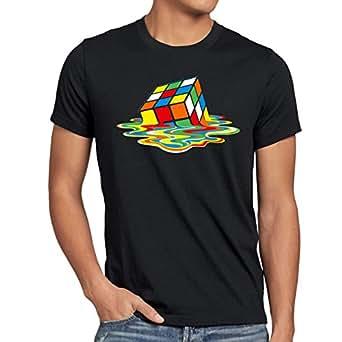 style3 Sheldon Cube Homme T-Shirt, Taille:S;Couleur:Noir