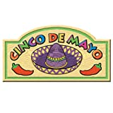 Beistle 50020 24-Pack Cinco De Mayo Signs, 91/2 by 181/2-Inch