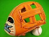 ミズノ MIZUNO 海外モデル オールラウンド用 オレンジ&ホワイト クロスウェブ IBEライン 野球・ソフトボール兼用グラブ