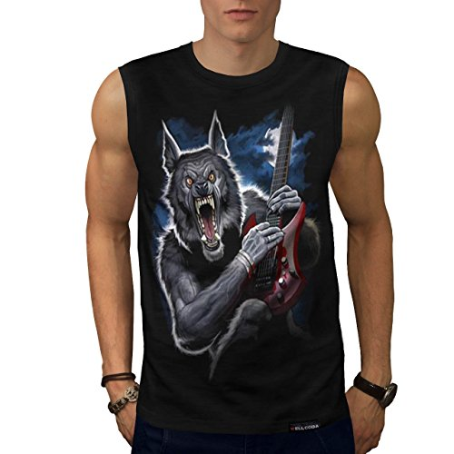 Werewolf Wild Music Guitar Sleeveless T-shirt