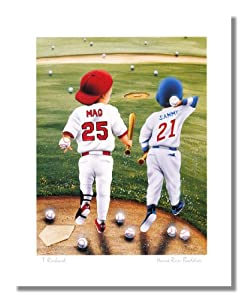 Baseball Home Run Buddies Mark McGwire Sammy Sosa Wall Picture 8x10 Art Print