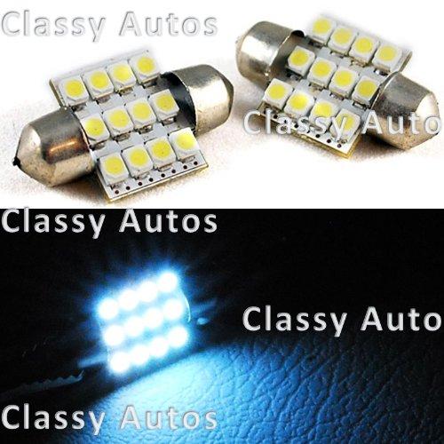 31mm Festoon 12 LEDs SMD LED Bulb White for 3022