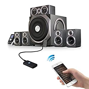 WEKSI Bluetooth 2-in-1 Receiver/Transmitter,Wireless Bluetooth Adapter with Stereo Music Transmission for Home Audio System
