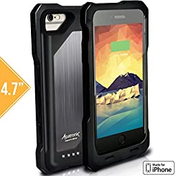 iPhone 6S Battery Case, iPhone 6 Battery Case, Heavy-Duty & Rugged Alpatronix [BX150] MFi Apple Certified 3500mAh Shockproof External iPhone 6S/6 Charging Case with Rubberized Removable Rechargeable Protective iPhone 6S/6 Charger Case [Ultra Slim Portable