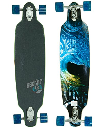Sector 9 Aperture Sidewinder Drop Through Downhill - Cruiser Freeride Complete Longboard 36 inch