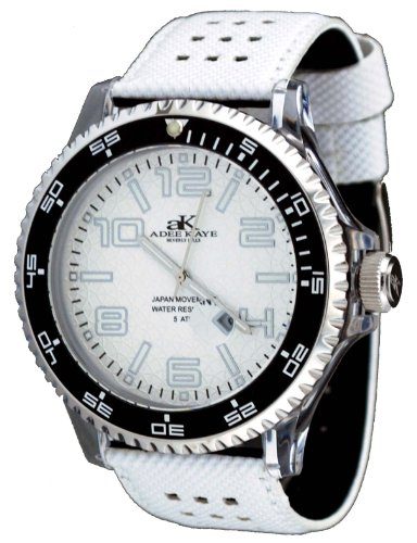 Adee Kaye #AK2229-M Men's Oversized Clear Acrylic Sports Watch