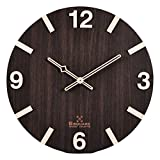 #9: BSQUARE | 12 inches | Handcrafted | Wooden Wall Clock | No Plastic | No Vinyl Print | Only Wood