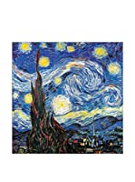 ArtopWeb Panel Decorativo Van Gogh Notte Stellata Detail 30x30 cm Multicolor