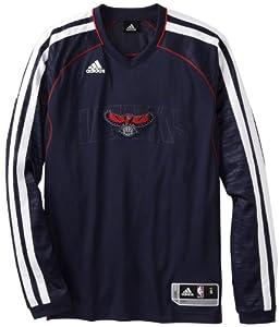 NBA Atlanta Hawks On-Court Long Sleeve Shooter, X-Large, Navy Blue by adidas