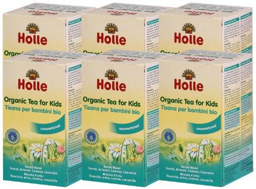 Holle Organic Baby Teas - Herbal Baby Tea - Multi-pack, 6 x 20 Tea Bags