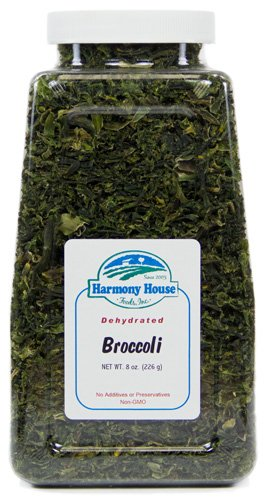 Harmony House Foods Dried Broccoli Flowerets (8 Oz, Quart Size Jar) For Cooking, Camping, Emergency Supply, And More