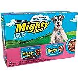 Mighty Dog Seared Filet Variety Pack - Tenderloin Tips & Porterhouse Steak - 12x5.5 oz