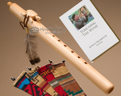 Native American Flute Pack -Natural Turtle & Bag