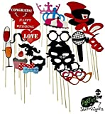 62-Piece #1 Best Seller - Partay Shenanigans Photo Booth Costume Props for Wedding Party
