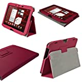 IGadgitz Pink 'Portfolio' PU Leather Case Cover for Motorola Xoom 2 Droid Xyboard 10.1
