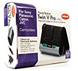 Hahnel PowerStation Twin V Pro Professional High End Fast Charger for Sony / Panasonic / Canon / JVC Camcorders