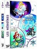 Coffret 3 DVD -  Les héroïnes: La Reine des neiges + Cendrillon + La petite sirène