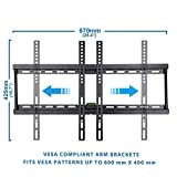 BPS Ultra Slim TV Wall Mount Bracket for 32-70 inch LG Samsung Seiki Philips Panasonic Widescreen 1080p 3D HD LED 4K TV , Max Vesa 600x400mm, Capacity 95kg (209 lbs), Spirit Level Included