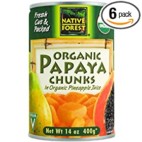 t Organic Papaya Chunks, 14-Ounce Cans (Pack of 6): Amazon.com