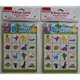 Way to Celebrate Children's Party Dinosaur Bingo Pads - Set of 2