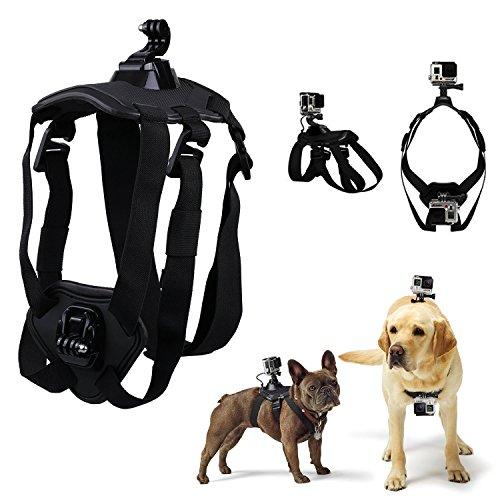 BULUSI 犬用フェッチ犬ハーネスマウントfor GoPro Hero 4 Sliver / 3+ / 3 Black / 2 調節可能チェストストラップカメラアクセサリーキット