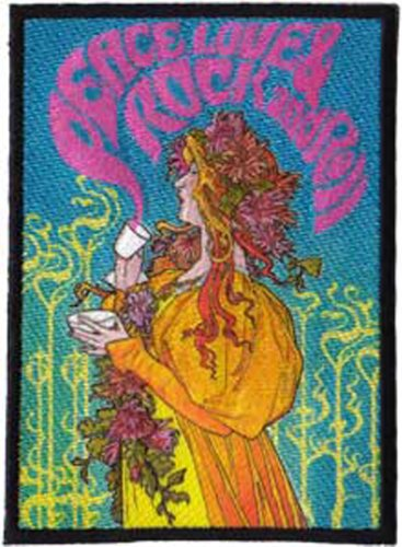 Application Bob Masse Peace, Love, Rock and Roll Coffee Patch