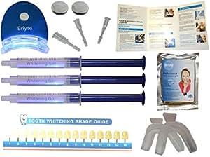 Briyte ® Teeth Whitening Kit (TEETH WHITENING) Pro Home Teeth Whiten Tooth Whitening Dental Care White 3x GEL Bleaching Kit Advanced Light Whitener with Briyte Crest UK Express & Special Delivery better than standard strips