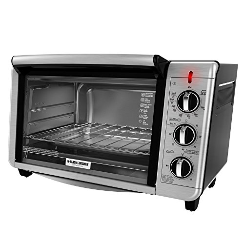 Black And Decker To3230Sbd 6-Slice Counter Top Convection Oven, Silver