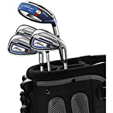 Adams Golf Men's F7525409 Golf Combo Irons Set, Right Hand, Stiff Flex, Graphite Hybrids with Steel Irons, 3,4R5-P, Blue