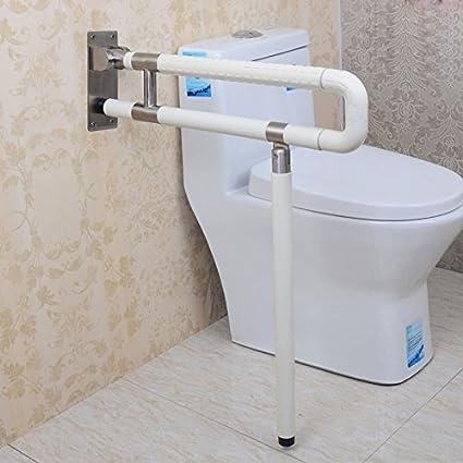 SAEJJ-Cuarto de baño de acero inoxidable, barandillas de seguridad, accesibilidad, plegado, antideslizante pasamanos,Un