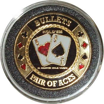 Read About Hand Painted Poker Card Guard Protector - Bullets