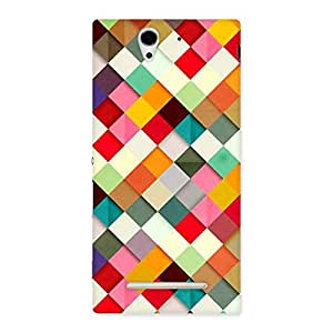 Stylish Color Ribbons Back Case Cover for Sony Xperia C3