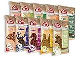 8in1 Minis Mega-Selection Hundesnacks (fettarm, glutenfrei, zuckerfrei, zehn verschiedene Sorten, Huhn Rind Lamm Kaninchen Pute Ente Hirsch Fisch), 1 kg Beutel (10 x 100g)