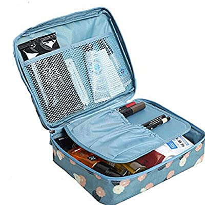 JIARUO Multi-function Makeup Cosmetic Bag Toiletry Travel Kit Organizer